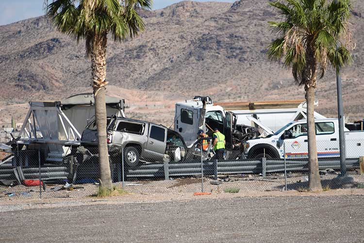 Side Impact Truck Collision