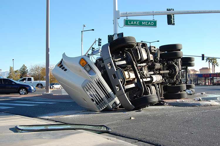 Semi Truck Rollover Accident